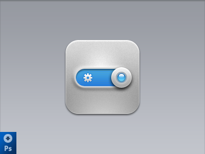 iOS icon ( Download PSD ) ios settings icon psd download slider button iphone freebie