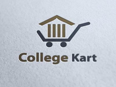 College Kart   Logo logo college cart identity books online book store