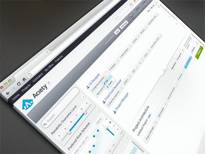 HR App UI web app hr hire search filter process ui criteria app icons