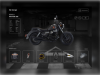 Motorcycle Garage UI - Product Details