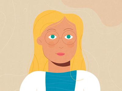 Self Portrait self portrait avatar people inspiration graphic design girl artwork illustration
