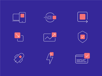 Icon collection website agency shortcut conception app icon inspiration ux branding design vector ui graphic design illustration