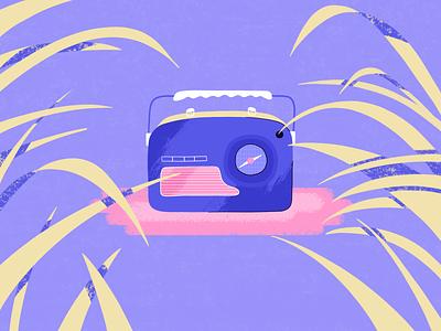 Radio colors nature radio chill abstract design vector artwork graphic design inspiration illustration