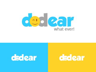 Dodear flat logo concept