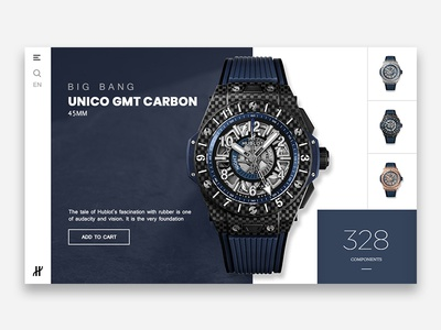 Hublot Watch Product Page | Concept Design