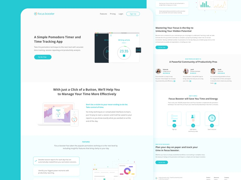 Time Tracker Landing Page