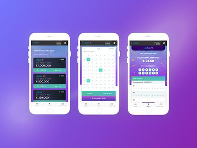 Keno Mobile UI Project user interface gaming keno