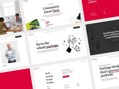 Smashbrand seo web design tablet mobile website web illustrations typography layout design