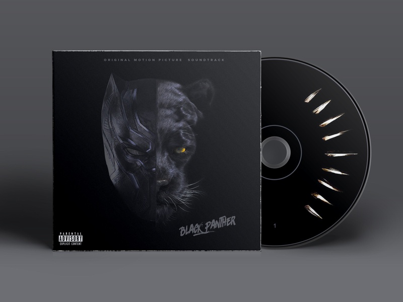 39b1278b3b7 Black Panther Cd Artwork Mockup by John Shaw