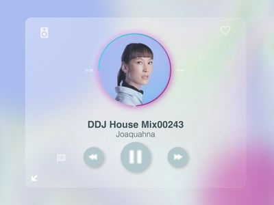 Glassmorphism Music Player UI dailyui009 house music glassmorphism dailyuichallenge minimal ui design a day design dailyui