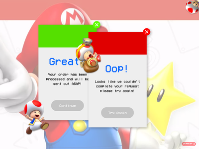 Super Mario Flash Message flash message dailyui011 mario toad nintendo dailyuichallenge minimal ui design a day design dailyui