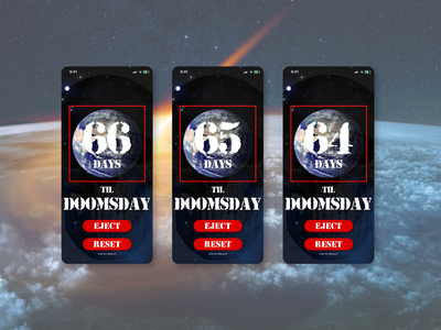 Doom dailyui014 doomsday timer app countdowntimer timer app dailyuichallenge ui design a day design dailyui