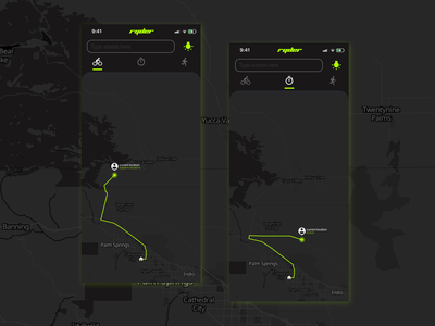 Ryder Location Services dark mode maps map bike riding ryder bike riding app location services location tracker location analytics app minimal dailyuichallenge ui design a day design dailyui