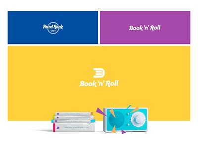 Book'n'Roll logo design logotype childrens book children book rock typography icon design ui website logo branding web books naming