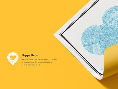 Happy Maps custom map happy maps ux ui site design love maps web website