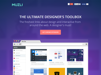 Muzli - chrome extension
