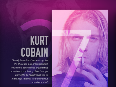 27 Club project - Kurt Cobain