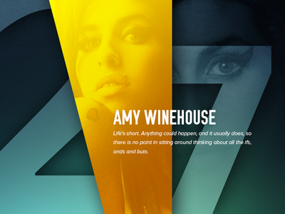 27 Club project - Amy Winehouse