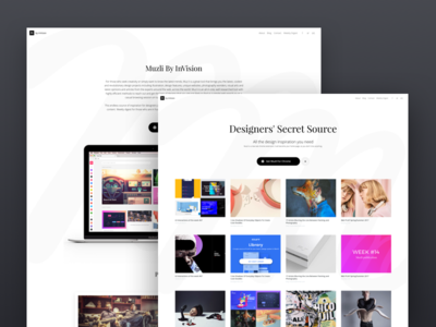 Muzli Website Redesign israel eyal zuri grid minimalist invision images redesign website web muzli
