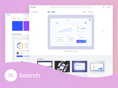 Introducing Muzli Search: What if you were endlessly inspired? website animation typography icon branding logo images illustration gif feed design mobile web ux ui search color muzli invision