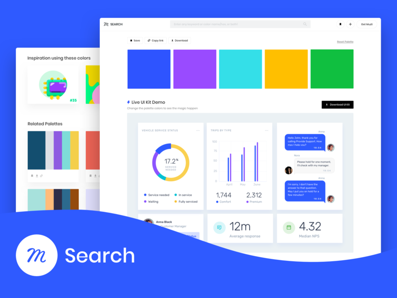 Introducing Muzli Search: Find your spark product design print web design website images animation icon gif mobile branding typography palette color illustration feed logo invision search ux ui
