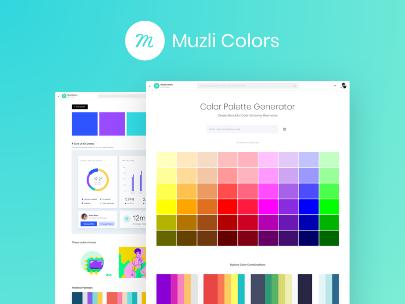 Muzli colors vector illustration feed svg search palette colors palette muzli colorscheme color colors ux design ui
