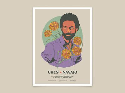 Gig Poster nature photoshop flower wacom design barcelona folk music illustration