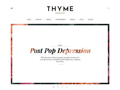 Thyme online magazine