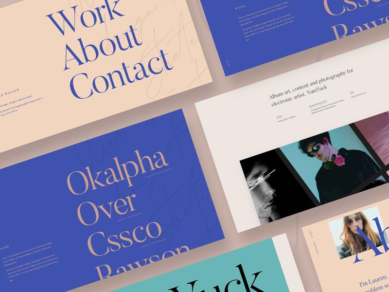 Portfolio Website typographic design landing page product management web design portfolio webflow website design website product design portfolio