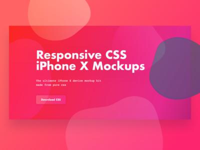 iPhone X CSS Mockups