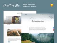 Creative Me · Blog Sketch Template
