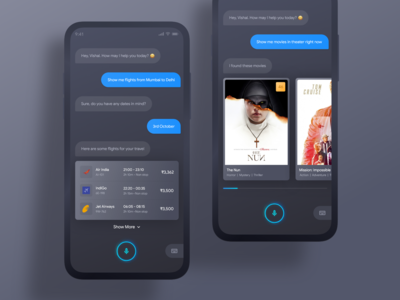 Virtual Assistant Dark UI