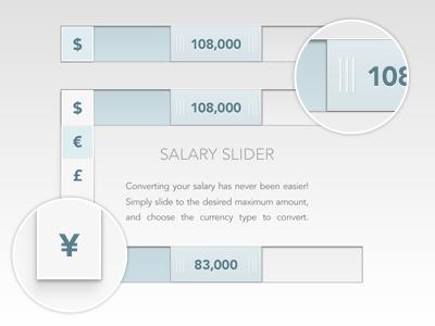 Salary Slider slider minimalism clean design modern white ui ux interface