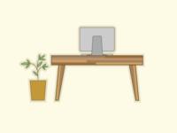 Desk & Plant