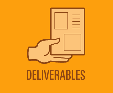 Deliverables vector art icons