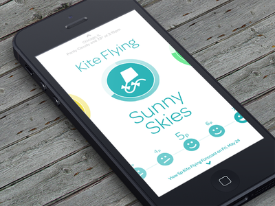 Foresee - Go Fly a Kite... app ios iphone weather activity planning colorful ui blue icons bright clean minimal simple flat