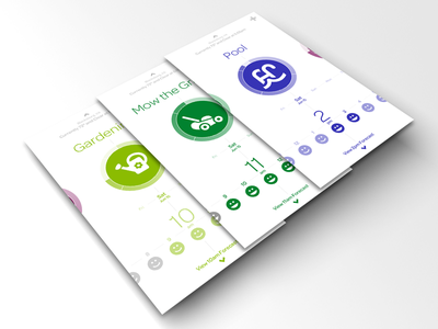Foresee - Saturday Work + Fun flat simple clean productivity weather planning colors colorful activity app apple ios iphone foresee application bold