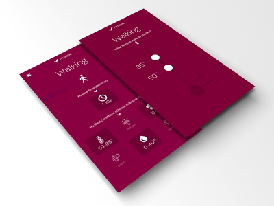 Foresee - Edit Ideal Conditions Process contrast purple bold flat simple clean productivity weather planning colors colorful activity app apple ios iphone