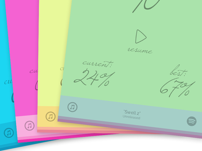 Harmony 3 with unreleased music by Hammock pastel minimal music game ios purple blue green pink palette app colorful