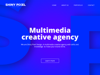 Website header - Creative agency