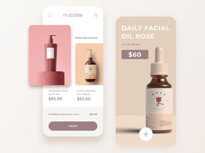 Rucola Cosmetic - Mobile App mobile ui cosmetic mobile design mobile app app ui design