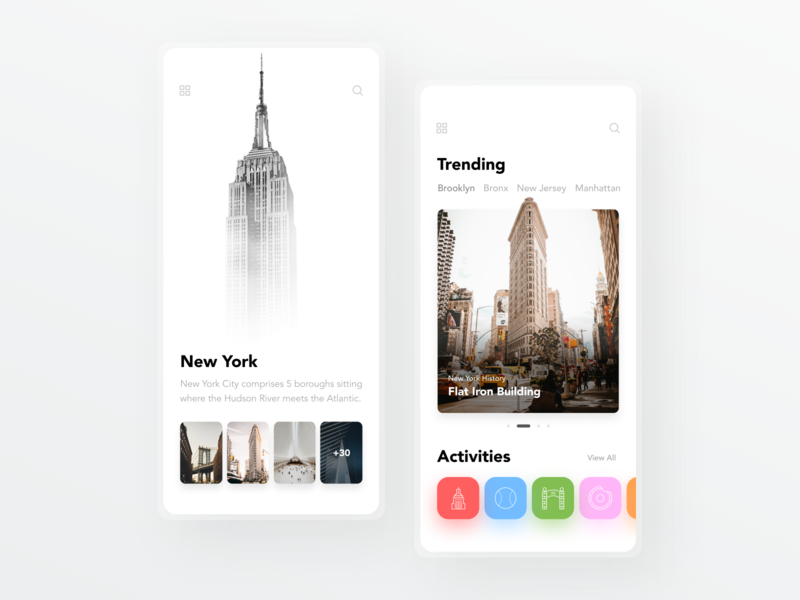 City Attractions Concept daily ui ui designer ui dailyui simple minimal ux design user interface ui design modern new york city