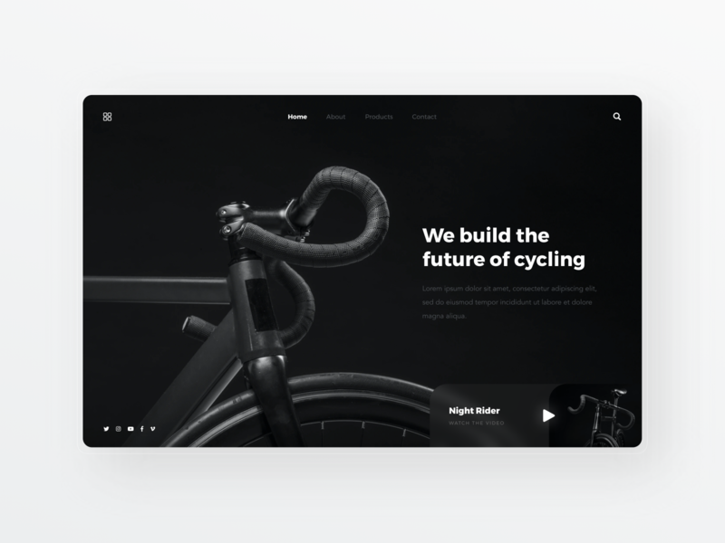 Bike Landing Page Concept simple bycicle dailyui clean ui designer ui minimal ux design modern user interface ui design