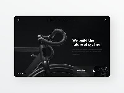 Bike Landing Page Concept simple bycicle dailyui clean ui designer ui minimal ux design modern user interface ui design