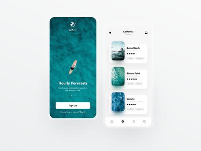 Surf Report Concept 🏄🏻♂️ surfing uiux website web app ui dailyui minimal modern web design ui design ux design user interface app design surf