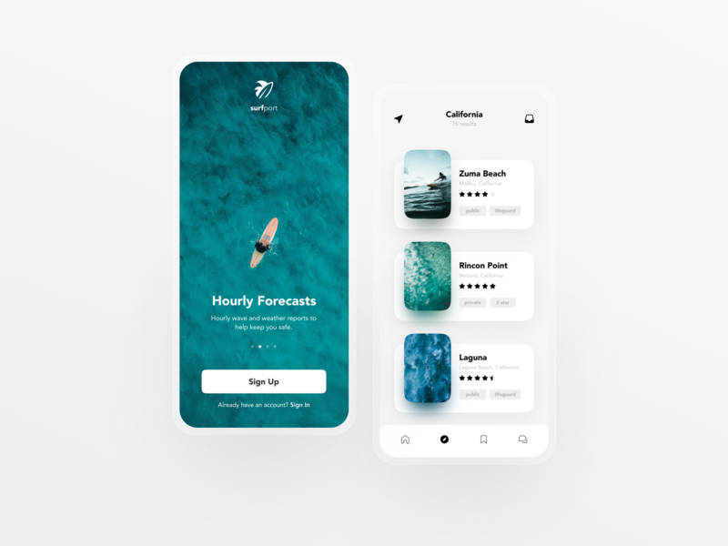 Surf Report Concept 🏄🏻‍♂️ surfing uiux website web app ui dailyui minimal modern web design ui design ux design user interface app design surf