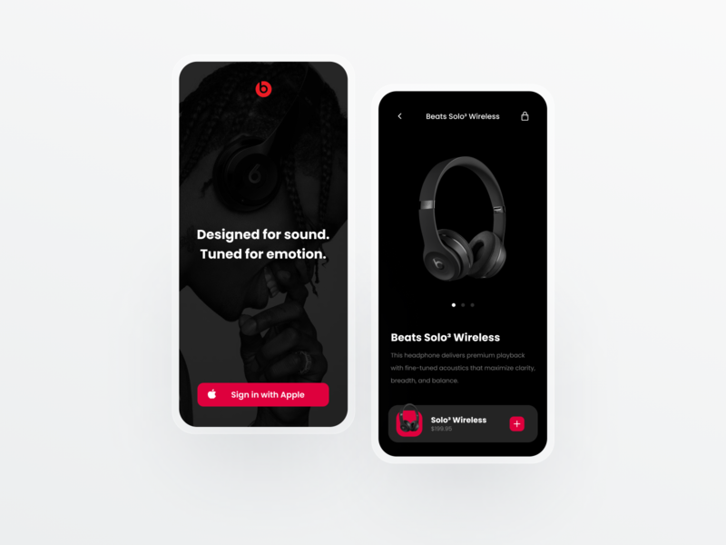 Beats Product Page Concept 🎧 modern beats by dre dailyui design simple ui ui designer web design minimal user interface ui design