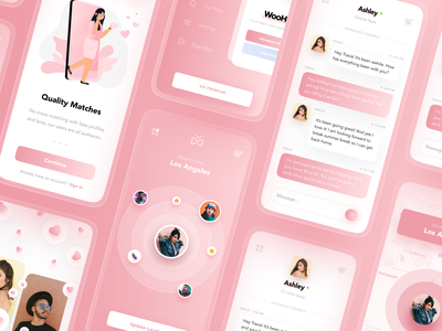 Dating App UI Kit 💌 dailyui simple clean web design ui designer ui ux design user interface ui design modern ui kit dating app