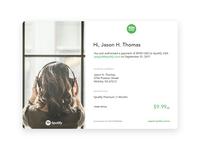 Spotify Email Receipt