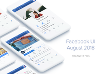Facebook UI Kit (August 2018)
